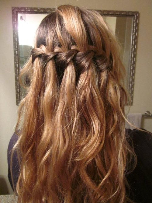 braided on oneside. its pretty and looks like you have made minimal effort :)
