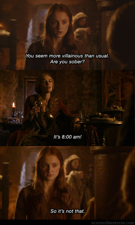 arrestedwesteros:  Michael: You seem more villainous than usual. Are you sober? Lucille: It's 8:00 a.m. Michael: So it's not that. The Cabin Show - 3x01