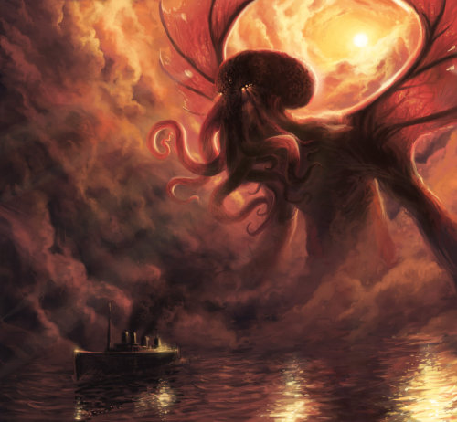 fckyeahhplovecraft:  mydarkenedeyes:  Cthulhu by Obrotowy For Rowan and Fer! :)  Thank you!!