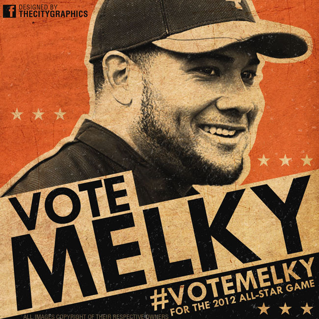 thecitygraphics:  Here is my design for the Melky Cabrera #VoteMelky for the 2012 All-Star Game campaign. Use this as your Twitter, Tumbr, Facebook, etc profile picture to help send Melky to K.C.!