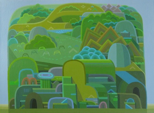 cable griffith hill, 2012 acrylic on canvas 16 x 20""