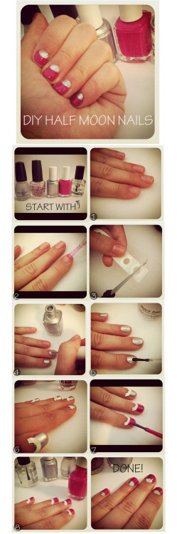 We <3 nail tutorials! Another amazing one from The Glitter Guide for half-moon nails! Super cute and easy! <3 Amy, ModStylist Need styling suggestions, trend tips, or dress details? Ask a ModStylist and your question might be featured on our feed!