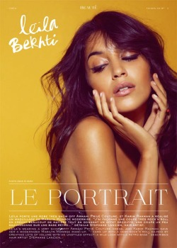 Leila Bekhti by Sean & Seng for L'Oreal and Le Protrait at Cannes