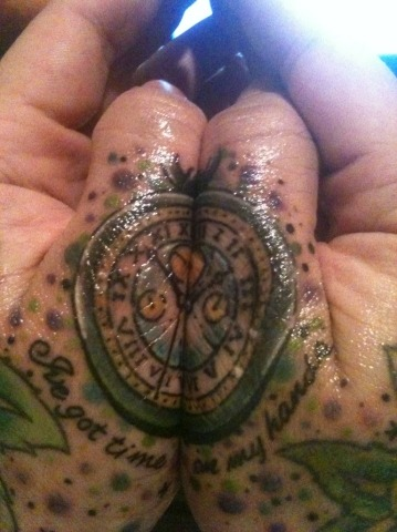 "My newest tattoo. Based off the chameleon watch thing from doctor who.  ""i've got time on my hands""  Shop: hudson tattoo co. Artist: Alistair"