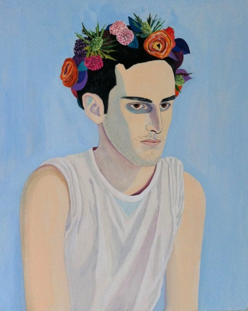 A painting of me by Caris Reid  carisel:  Alan, 2012