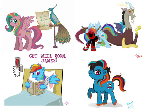 Hi everyone! I am still taking commissions for My Little Pony: Friendship is Magic!I can either do one character bust for 20 bucks, or a full body character of your choice for 40. Cutie mark and all!All commissions will be hand drawn and traditionally inked, and digitally colored.Consider:1.) YOU as a pony. You can give me color suggestions and choose your cutie mark.2.) Your favorite existing character! ANY character from the show!3.) A pony from the old series, in the new show's style!More than one character is doable, but the price will go up.email for questions: terryblas@gmail.comLook forward to drawing some ponies, or maybe even Discord! And of course, I am open to other commissions, but these prices are solely for ponies. :D