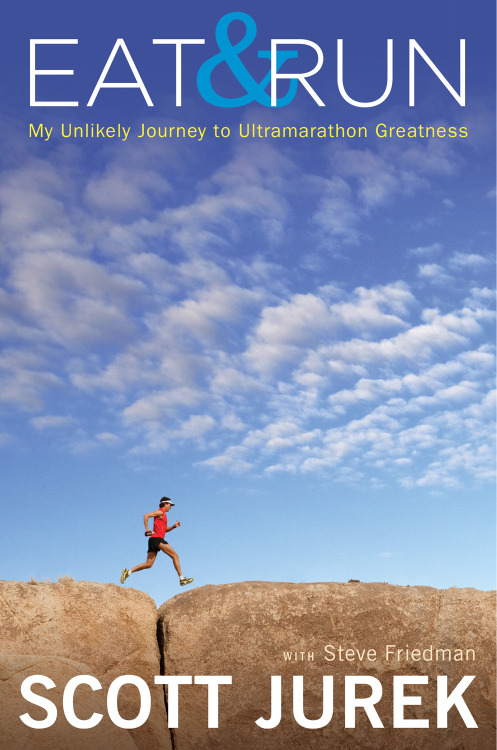 Available TODAY! Life-changing inspiration in just 288 pages. Vegan ultramarathoner Scott Jurek may run for 24 hours straight, munching on homemade rice balls wrapped in seaweed, through the unearthly heat of Death Valley and the harsh mountain passes of the Rockies, on sprained ankles and with terrifying hallucinations, but his story is more simple. It's a story about determination, about natural talent and a drive to succeed, to be the absolute best at whatever it is you want to be. It's a story of a skinny kid with high blood pressure, a strict dad, and a sick mom, who found happiness in the wooded trails of his Minnesota youth, who took that happiness and made himself a living legend.  But you don't have to be an ultramarathoner to learn something from this book; you don't have to be a runner at all. You don't have to be a vegan, or a vegetarian, or an organic zealot: I'm not any of those things. But I couldn't put it down. Scott's world is an unknown to me. I've never crossed paths with the Tarahumara of Copper Canyon, I've never made my own rice milk, and the only time I've run barefoot is chasing after the ice cream truck as a kid, but this book is an inspiration, Scott's success is an inspiration, and every character, every person he's come into contact with in his world, is an inspiration.  So, get inspired  Read an excerpt.  Eat like Scott. Follow Scott on Twitter and like him on Facebook. Check out Scott's website and tour.