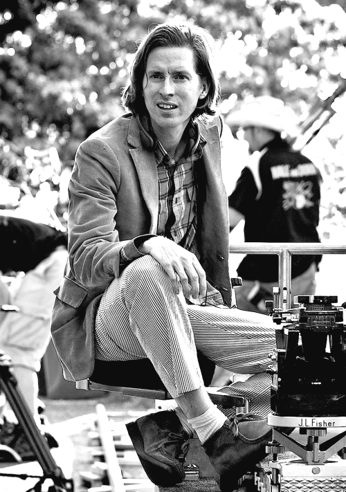 Wes Anderson filming Moonrise Kingdom (2012)