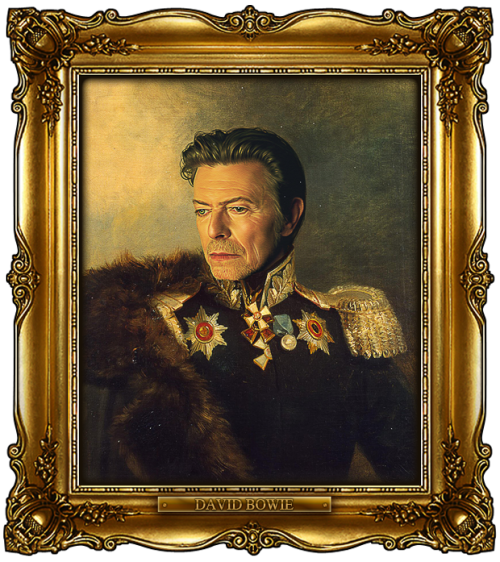 Buy this portrait here:http://bit.ly/replaceface_DavidBowie