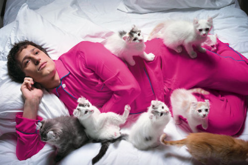 Andy Samberg by Mark Seliger [Berkeley's Cat Meow]