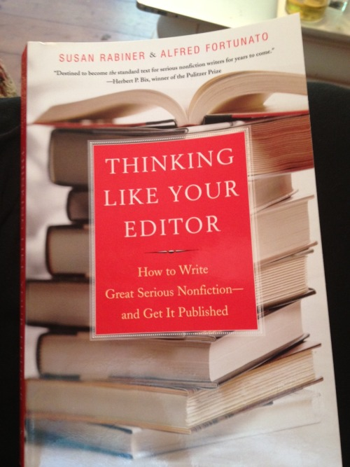 "Thinking Like Your Editor: How to Write Great Serious Nonfiction and Get It Published, by Susan Rabiner and Alfred Fortunato I just finished reading this book, which is already 10 years old, but still offers some excellent advice for writing dissertations and/or turning your dissertation into a book.  Even for more advanced scholars who are trying to write for an audience outside of their core discipline for the first time, this book offer some great tips and thoughts about the writing process.  I found the section on ""using narrative tension"" particularly useful."