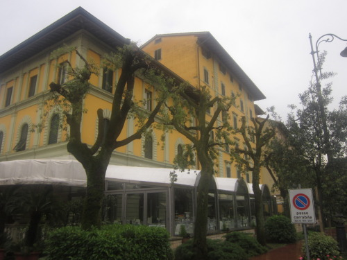 And here is our hotel in Montecatini Terme.