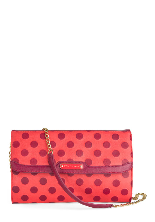 Love this adorable Betsey Johnson clutch. The polka dots add a dose of cuteness to any outfit! <3 Amy, ModStylist Need styling suggestions, trend tips, or dress details? Ask a ModStylist and your question might be featured on our feed!
