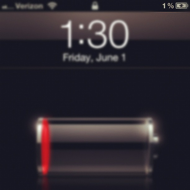 I know, I'm so daring. I'm always running for my charger. XD #battery #percentage #iphone #charging #instagram (Taken with instagram)