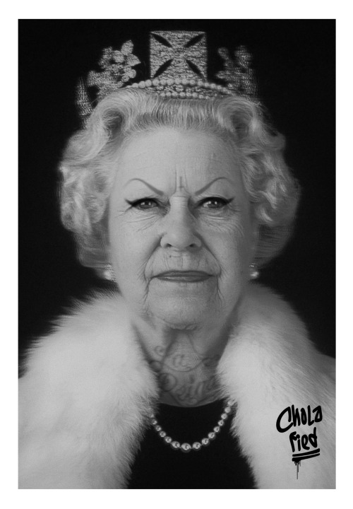 cholafied:  Chola Queen Elizabeth II aka Dos