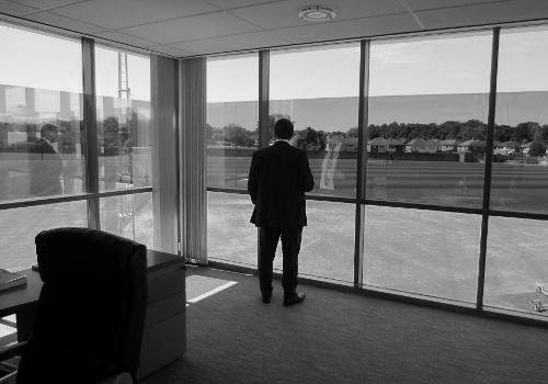 theredsgallery:  Brendan Rodgers surveys his new workplace. Welcome to Liverpool FC.  l
