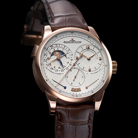 "JAEGER-LECOULTRE – Duomètre à Quantième Lunaire This new Jaeger-LeCoultre Duomètres à Quantième Lunaire displays hours, minutes, seconds, jumping stop seconds with zero-reset system, date, age and phase of the moon for both hemispheres and power reserve – all in an elegant and well-proportioned design. Artistic and Design Director Janek Deleskiewicz said, ""We take traditional designs, colours and materials from historically successful collections and make them contemporary again, but the real innovation lies in the movement."" You only need one crown to wind the watch and adjust the hours and minutes, only one push piece to correct the date and one corrector to change the moon phase. The jumping seconds hand even measures a sixth of a second. It's precision at its best."