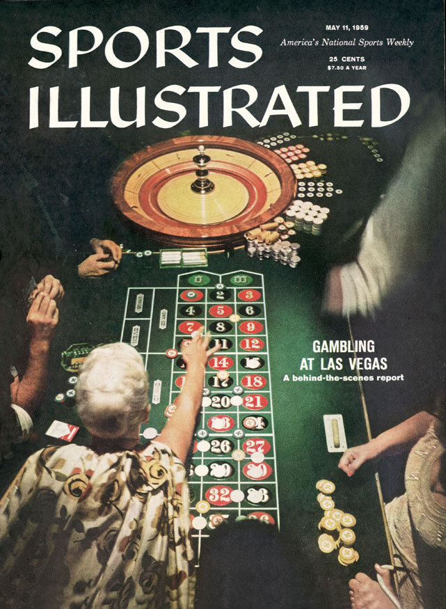 SI covers gambling in Las Vegas for its cover story in the May 11, 1959 issue. (Jerry Cooke/SI)
