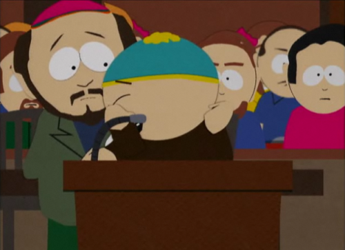 kymanismyotp:  Cartman: Yes, that was it. I was suh-so upset. I couldn't concentrate the rest of the day! And the way his eyes kept looking at me… Slowly going up and down my body, like he was undressing me with his eyes! *sobbing*
