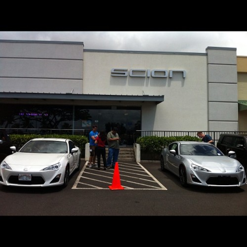 They're here!!! #scion #frs #hawaii (Taken with instagram)