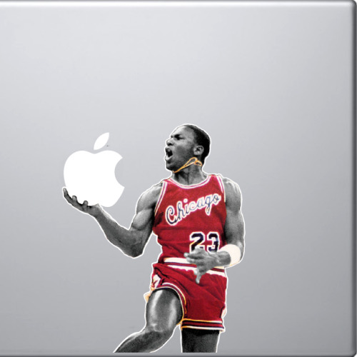 jaymug:  Michael Jordan MacBook Decal.  Omg. This is amazing!