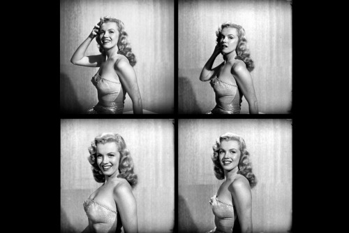 life:  Happy Birthday, Marilyn Monroe. Not published in LIFE. Four photographs of Marilyn Monroe at age 22, Hollywood, 1949. (J.R. Eyerman—Time & Life Pictures/Getty Images) See more photos here.