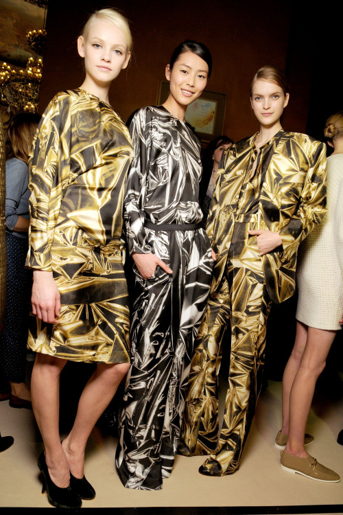 aclockworkpink:  Backstage at Stella McCartney F/W 2011, Paris Fashion Week
