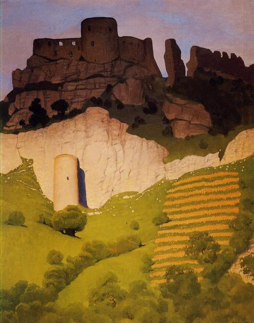 peira:   Felix Vallotton:  Chateau Gaillard at Andelys (1924) via WikiPaintings