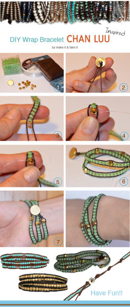 DIY: Chan Luu Wrap Bracelet @ Make It & Fake It!  on top of my to do list!!