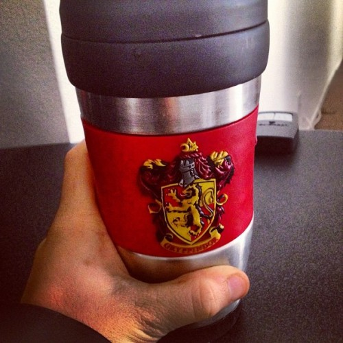 Iced coffee Gryffindor style. Time to turn this day around. (Taken with instagram)