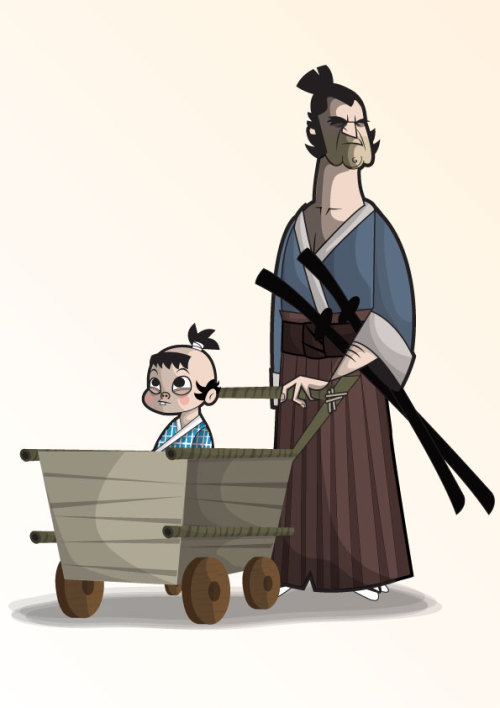 xombiedirge:  Lone Wolf and Cub by Ben Camberos / Website / Tumblr