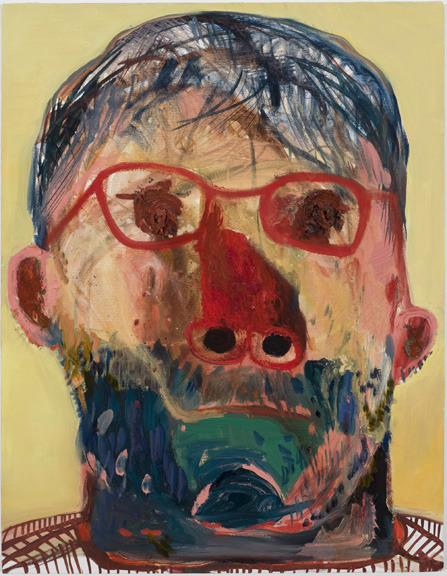 Nicole Eisenman Guy with yellow background 2009 Oil on canvas