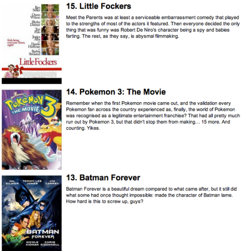 The Worst Triquel Movies of All-Time III [Click for full list] Each one is worse than the one before.