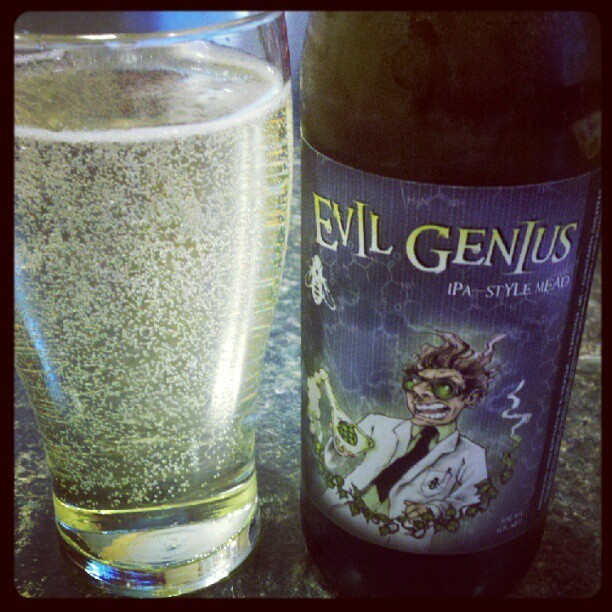Evil Genius IPA-style mead from Ferndale's B. Nektar. Not Zombie Killer, but tasty & interesting. Cheers! (Taken with instagram)