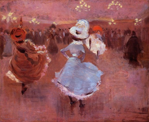 colourthysoul:  Jean-Louis Forain - Can-Can Dancers.