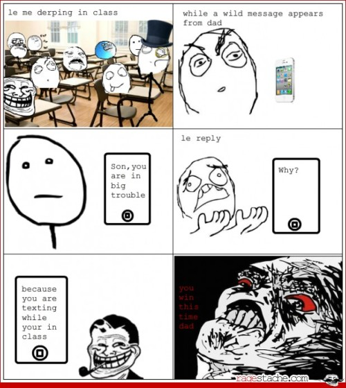 Troll dad strikes again http://bit.ly/K0YUsw