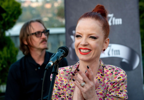 "On May 31 GRAMMY-nominated rock band Garbage were the featured guests at 98.7-FM's Penthouse, an exclusive concert series hosted by Los Angeles-based radio station KYSR-FM at the historic Hollywood Tower in Hollywood, Calif. Before an intimate crowd of radio contest winners, Garbage performed an acoustic set featuring the Billboard Hot 100 hit ""Only Happy When It Rains,"" ""I Think I'm Paranoid,"" ""Vow,"" and ""Blood For Poppies,"" a song from their most recent release, Not Your Kind Of People. Watch the full interview and performances here."