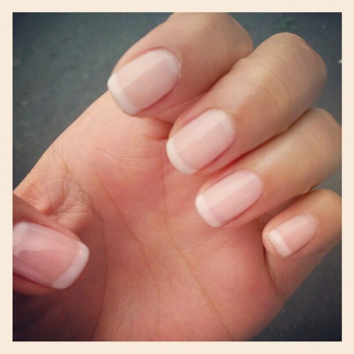 shellac French manicure :) #nails #shellac #French #gel #natural  (Taken with instagram)