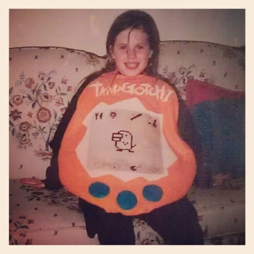 sexshooter:  once i had my mom make me a tamagotchi costume for halloween (Taken with instagram)