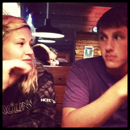 First date awwwww #Texasroadhouse @therealbigsed @holla_atme22 (Taken with instagram)