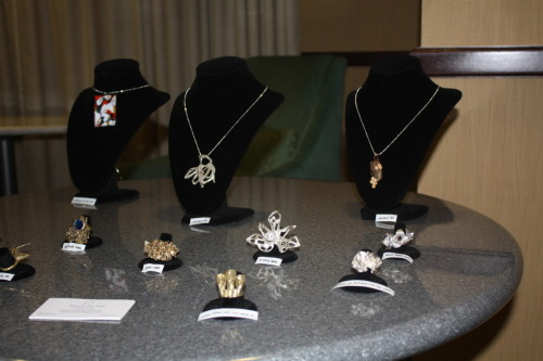 My jewelry at my show on May 30, 2012.