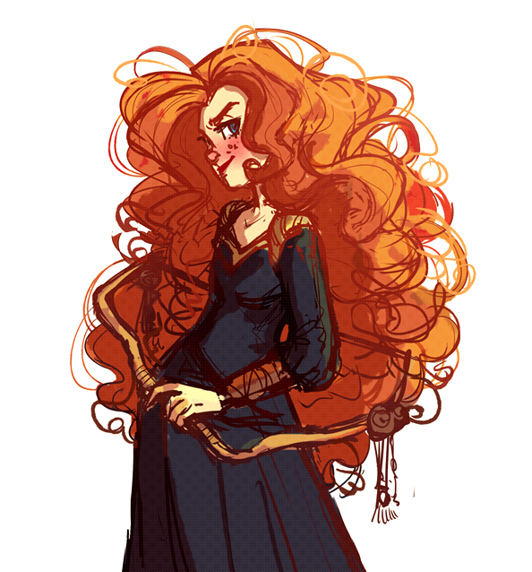 a-sugar-high-fangirl:  Merida Scribble by *snarkies