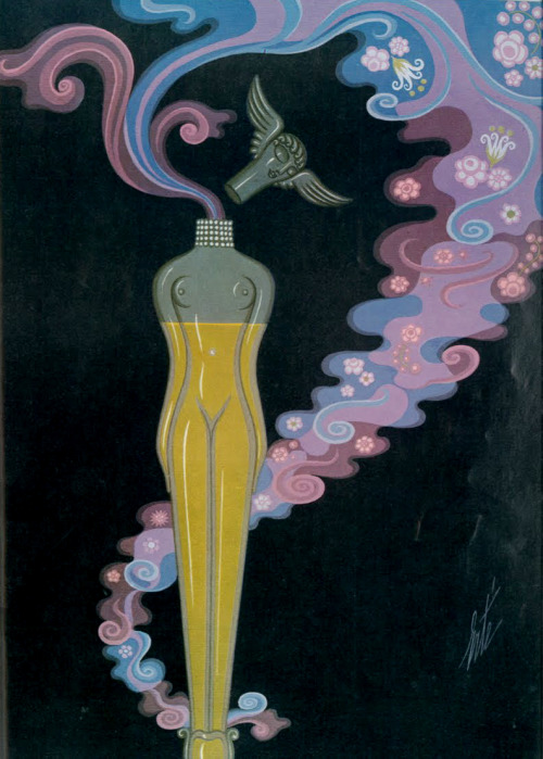 theyroaredvintage:  Erté illustration for Vogue UK, 1973.