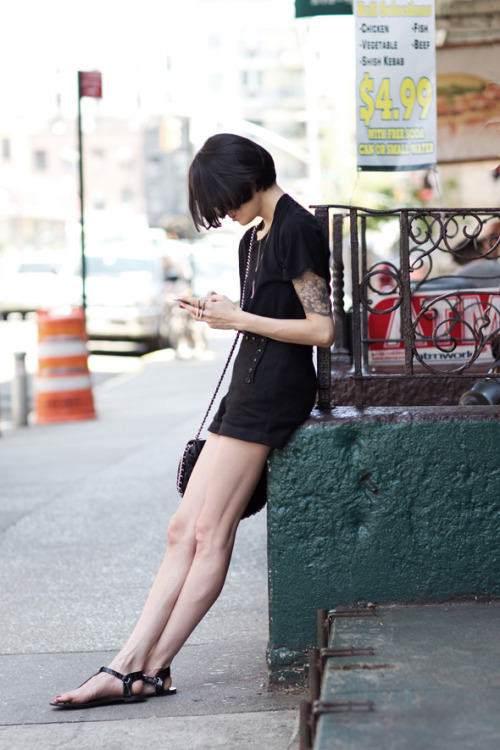 youmightfindyourself:  The Sartorialist: On the Street….Broome St., New York
