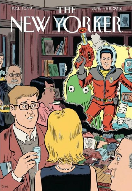 "Here's a roundup of news surrounding the New Yorker's science fiction issue Easy Writers: Guilty pleasures without guilt (subscription only) Literary Revolution in the Supermarket Aisle: Genre Fiction Is Disruptive Technology (Lev Grossman's response at TIME) The New Yorker speaks with four writers featured in the issue Weekend Edition interviews Jennifer Egan about tweeting her story from the issue    Ryan Britt at Tor reviews the issue for his ""Genre in the Mainstream"" column  Wired also reviews the issue   io9 talks about what it means that the New Yorker and Tin House both have a scifi issue  The Slate Culture Gabfest discusses literary fiction vs. genre fiction in reference to the New Yorker article and Lev Grossman's response"