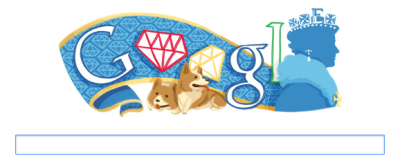 I want this to be my permanent Google Searchbar.  Homage to the Queen's Jubillee on Google.co.nz and google.co.uk! (via /r/corgi)