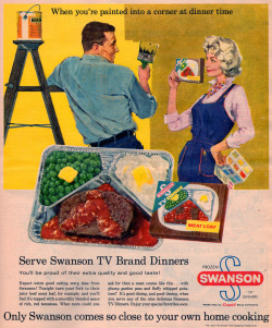 oldiesconnection:  Swanson TV dinner ad, 1960 (by it's better than bad)