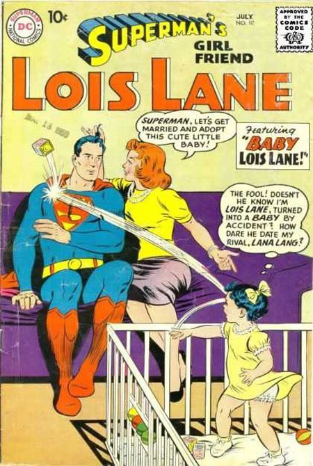 Superman's Girl Friend Lois Lane, comic book cover