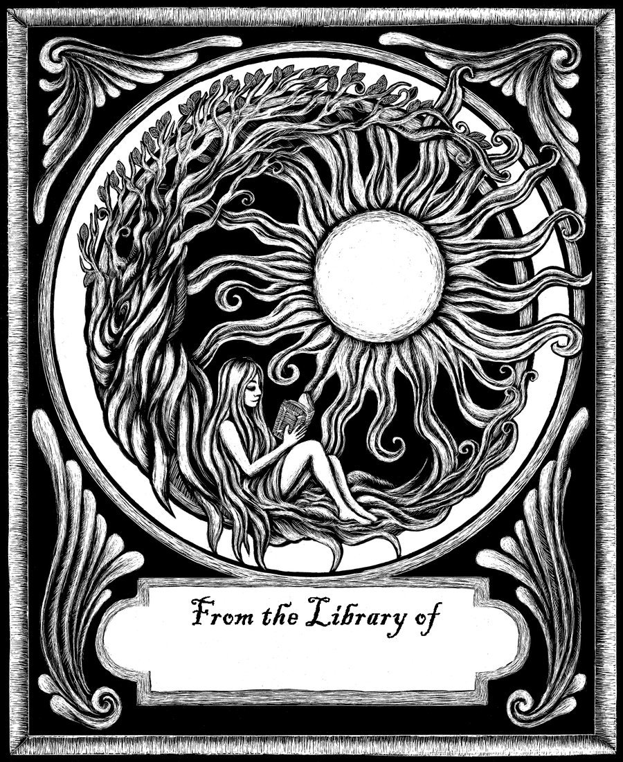 Fantasy Bookplate by Evanira