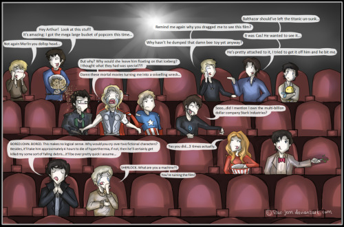 ishipjohnlock247:  chrismelonibenedictlover:  ninjaterra:  All the fandoms~! *o* Art by: http://star-jem.deviantart.com/  This hilarious!  couldn't resist blogging this again!